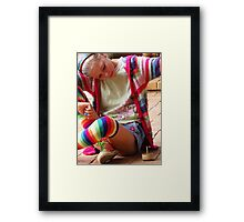 Spinning Top Framed Print