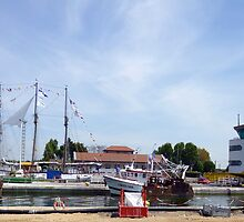 Panorama of Picturesque Ouistreham Port by GregoryE