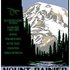 Vintage Mount Rainier Travel Poster by chris-csfotobiz