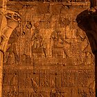 Edfu Temple Detail by Nigel Fletcher-Jones