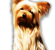 Yorkshire Puppy Tiny Dog by BluedarkArt