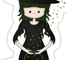 Whimsical Little Witch Sticker