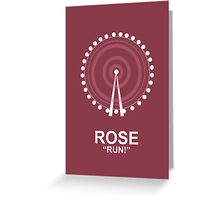 Minimalist 'Rose' Poster Greeting Card