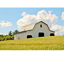 Large White Barn Photographic Print