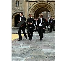 Boys in Black Photographic Print