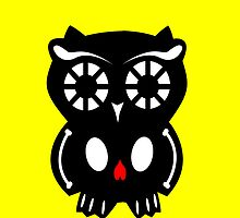 Skull Owl/ Yellow by D-Vega