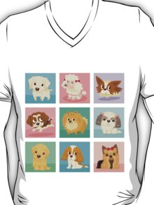Many poses of puppies T-Shirt