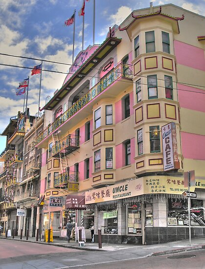 Postcard Chinatown by Bruce  Dickson