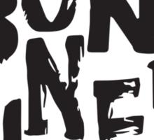 Born Sinner Black Sticker