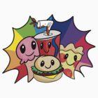 CUTE FOOD GANG by raresecretegg