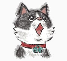Cat wearing bells by Toru Sanogawa