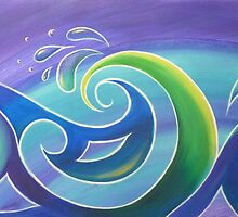 Koru Surf by Reina  Cottier Art
