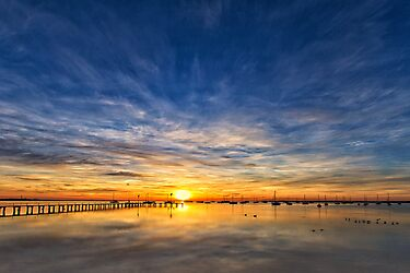 Rising Sun - Corio Bay Geelong by Hans Kawitzki