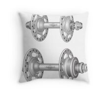 Campagnolo Record Pista Track Hubs Throw Pillow