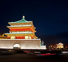 Xian Bell and Drum Tower by Sid Paleri