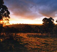 Hill End Sunset - NSW by David Hicks