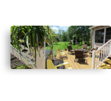 River Life ......continued -Finished deck w/furiture Canvas Print