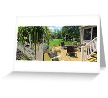 River Life ......continued -Finished deck w/furiture Greeting Card