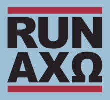 Alpha Chi Omega - Run Alpha Chi Tee by GREEKTEES