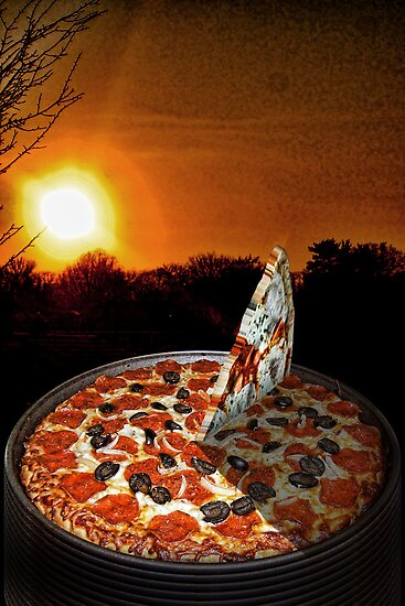 Pizza Sundial by GolemAura