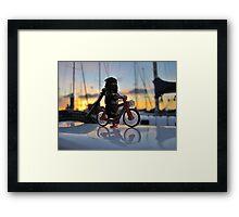 Ninja Training - Riding the Bike Framed Print