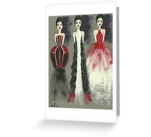 Gown Trio Greeting Card