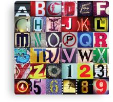 Instagram Alphabet Collection #1 Canvas Print