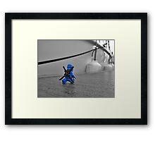 Something Blue, Someone New (1 of 3) Framed Print