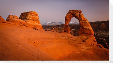 Delicate Arch after Sunset by Peta Thames