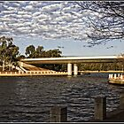Lake and Bridge in Tuggeranong in the Golden Hour by Wolf Sverak