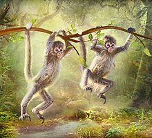 Little Monkeys by Trudi's Images