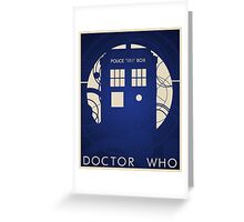 Doctor Who Poster Greeting Card