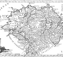 Ulster Map 1786 by VintageLevel