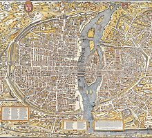 Paris Map 1150 by VintageLevel