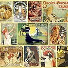 Art Nouveaus Advertisemets Collage by VintageLevel