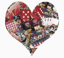 Heart - Las Vegas Playing Card Shape  by Gravityx9
