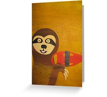 Sloth Hasselhoff - made with recycled math books Greeting Card