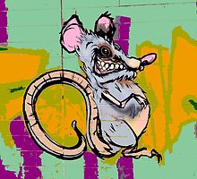Graffiti rat by rlnielsen4