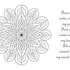 Sacred Mandala Color Your Own Card w/message by TheMandalaLady