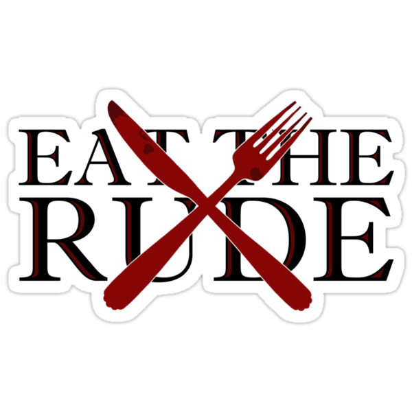 Eat the Rude (sticker only) by Isabelle M