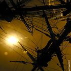 Tall Ship Sydney Sunset by Darren Freak
