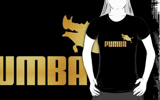 Leaping Pumba (black and gold) by avdesigns