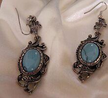 orecchini con pietra turchese by patrizia63
