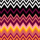 Colorful Zig Zag Retro by LABELSTONE