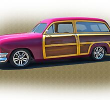 1950 Ford Woody Surf'n Wagon/Studio by DaveKoontz