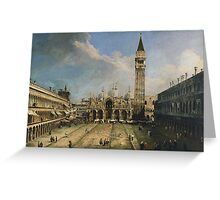 Canaletto - The Piazza San Marco in Venice Greeting Card