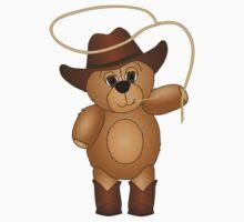Cute Cartoon Teddy Bear Cowboy Kids Clothes