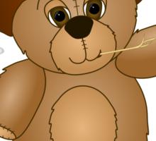 Cute Cartoon Teddy Bear Cowboy Sticker
