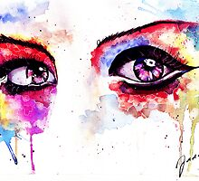 Watercolor Eyes II by jadesweetbox