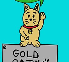 gold cat by Logan81